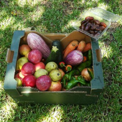 Cestas de frutas ecológicos